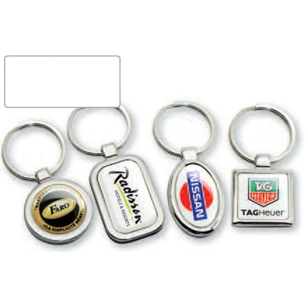 Platinum Series - Oval - Stock Shape Key Chain With Attractive Design Photo
