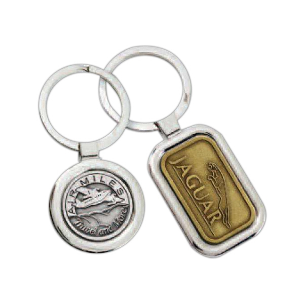 Platinum Series - Oval - Key Chain With Attractive Design With Cast Insert Photo