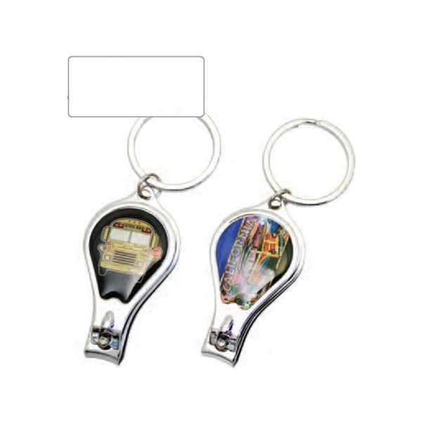 Platinum Series - Key Chain With Nail Clipper, Bottle Opener, And Nail File Photo