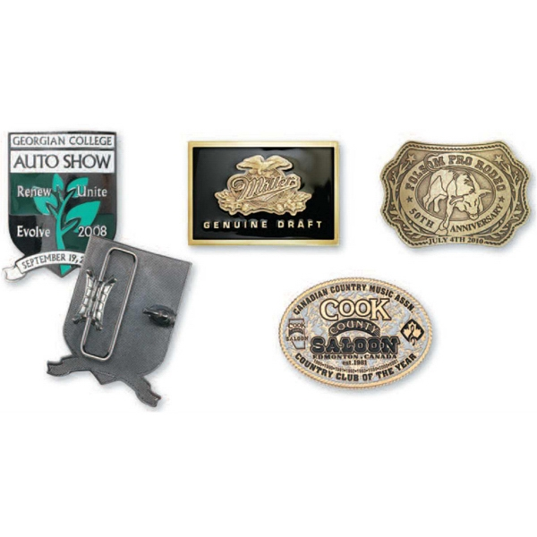 "2 1/2"" X 3 1/2"" - Classic Belt Buckle With Standard Belt Loop, 1 1/2"" - 1 3/4"" Photo"
