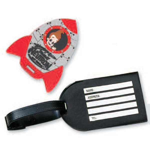 "Pvc Bag Tag With 6"" Leather Strap. Thickness, 4mm Photo"