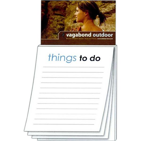 Magna-pad (tm) - Business Card Magnet - Stock Things To Do (50 Sheet). Two Great Products In One! Photo