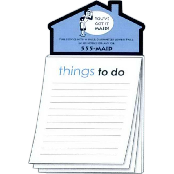 Magna-pad (tm) - House Shape Magnet - Stock Things To Do (50 Sheet). Two Great Products In One! Photo