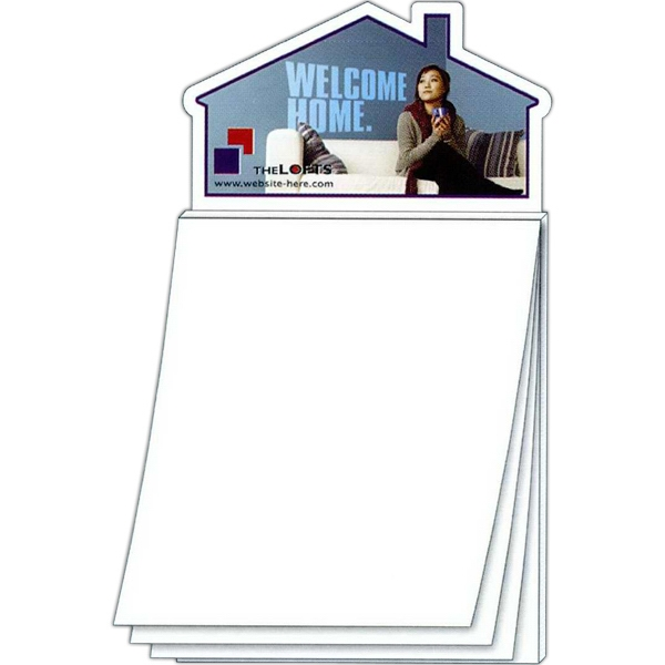 Magna-pad (tm) - House Shape Magnet - Blank Sheet (50 Sheet). Two Great Products In One! Photo