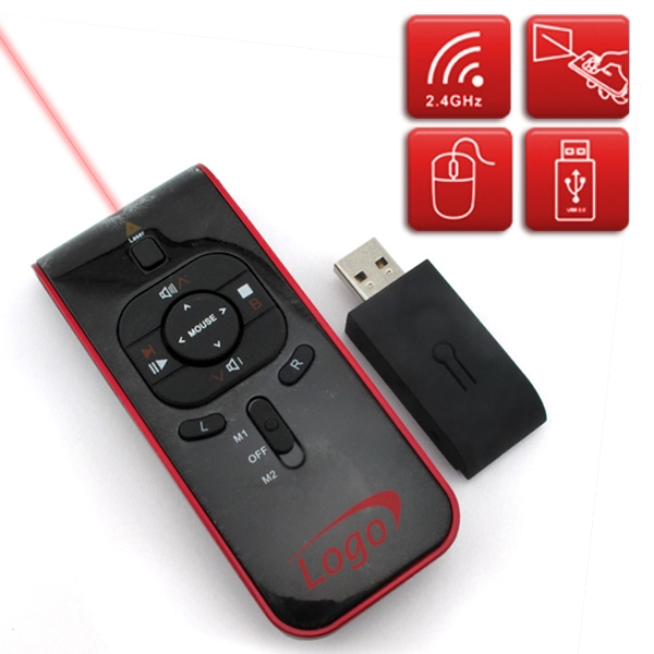 2gb - Wireless Presenter, Infared, Mouse, Laser Pointer, And Usb Receiver In One Photo