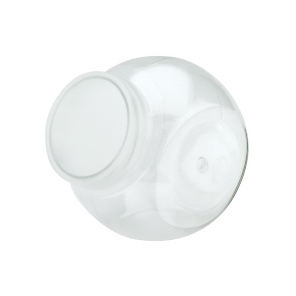 Plastic Apothecary Jar With White Screw On Lid Photo