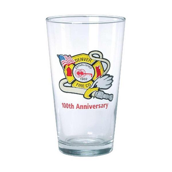 Glass pint glassware