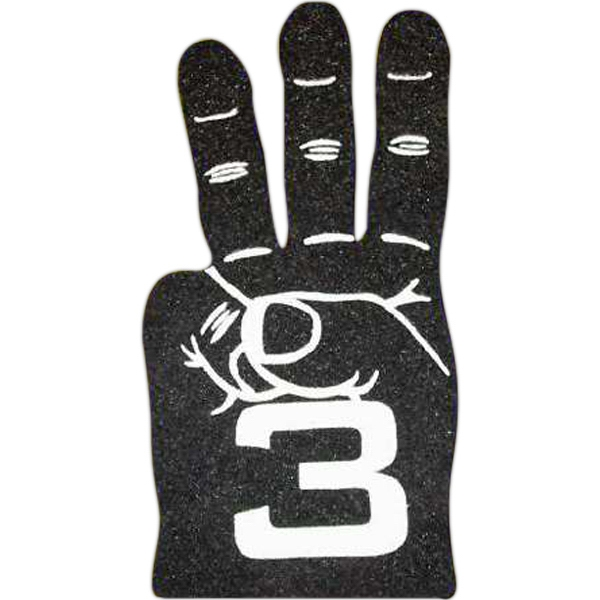 Foam Hand Cheering Mitt With 3 Finger Design Photo