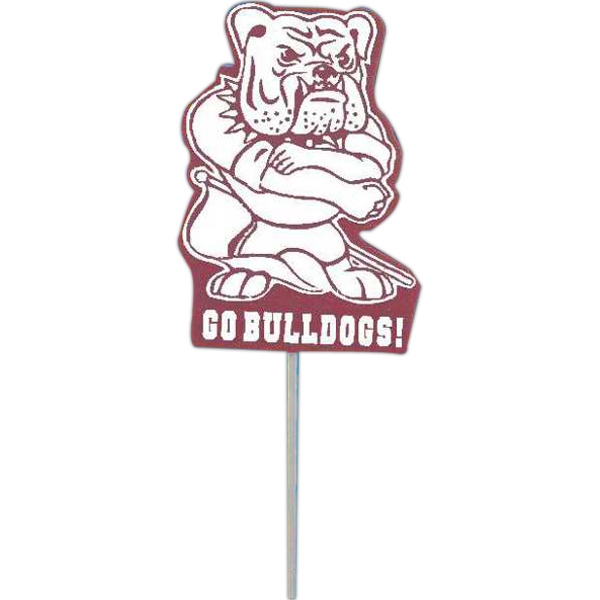 Bulldog - Mascot On A Stick. Made From Foam Material Photo