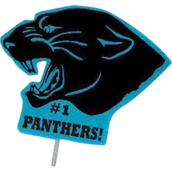 Panther - Mascot On A Stick. Made From Foam Material Photo
