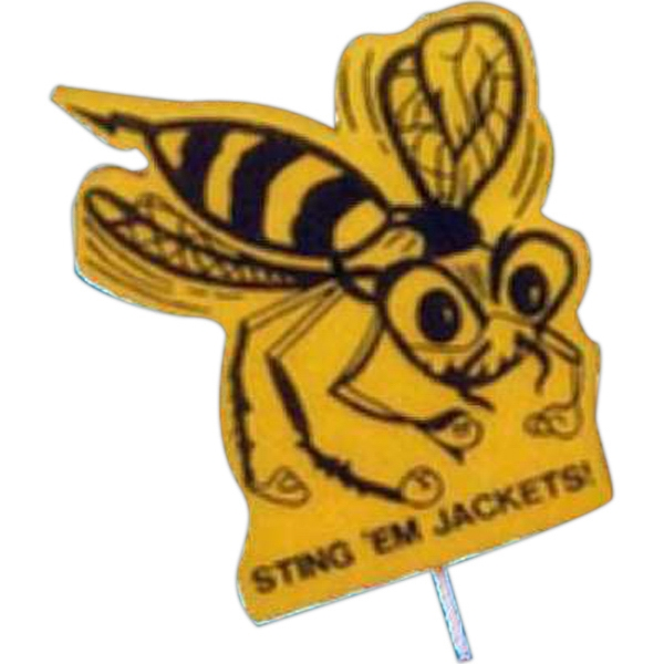 Bee - Mascot On A Stick. Made From Foam Material Photo