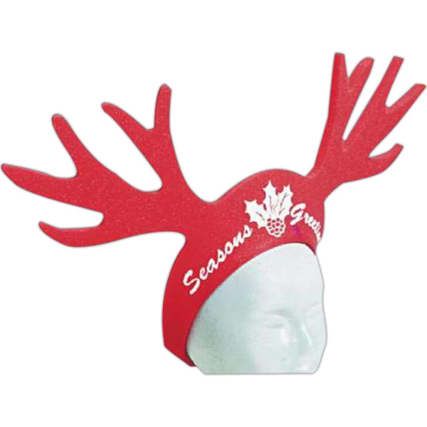 "22"" Reindeer Antlers - Foam Visor Headwear Photo"