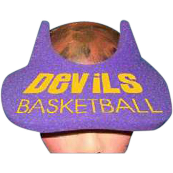 Devil Horns Top - Novelty Foam Pop-up Visor Photo