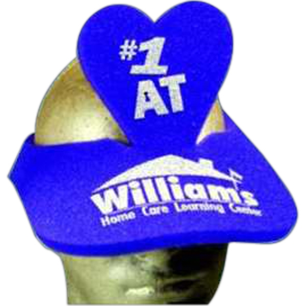 Heart Top - Novelty Foam Pop-up Visor Photo