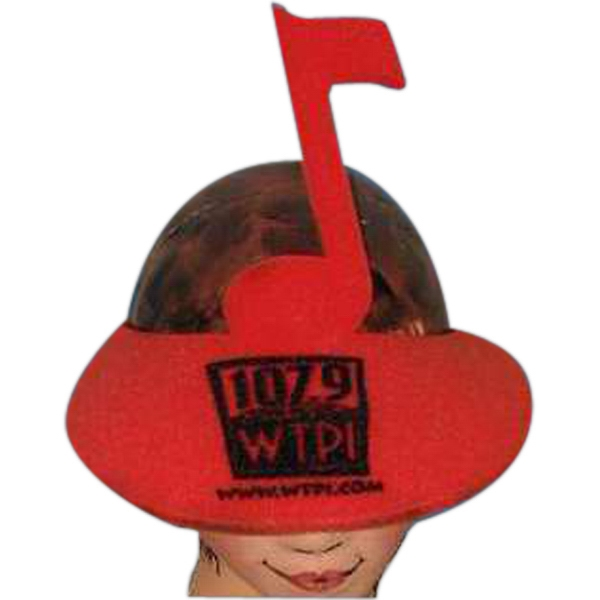 Music Note Top - Novelty Foam Pop-up Visor Photo