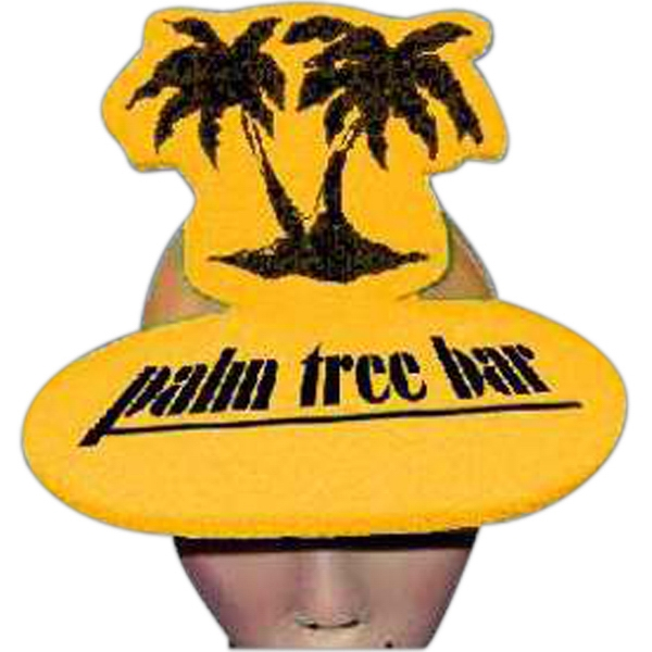 Palm Trees Top - Novelty Foam Pop-up Visor Photo