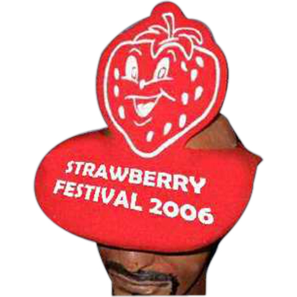 Strawberry Top - Novelty Foam Pop-up Visor Photo