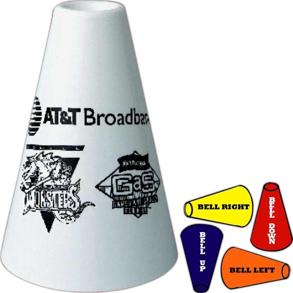 "7"" Mini Plastic Megaphone. Made With Recycled Material Photo"