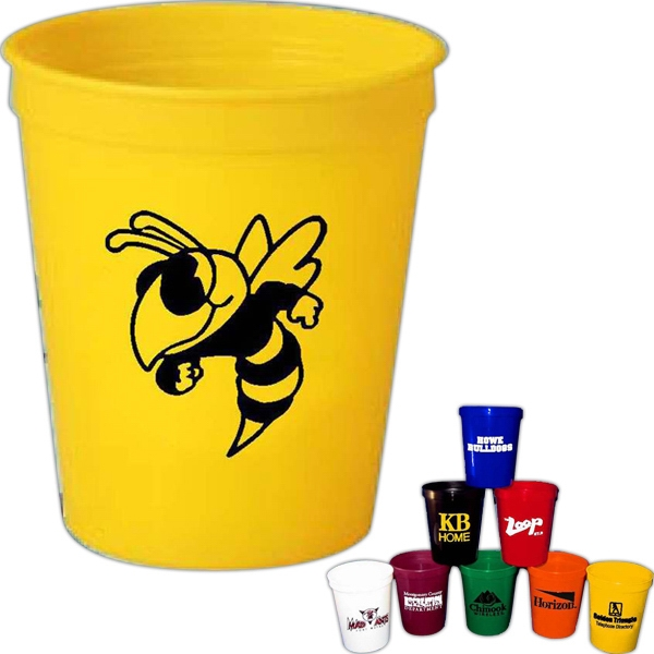 Spirit (r) - 16 Oz. Plastic Stadium Cup Made With Recycled Material Photo