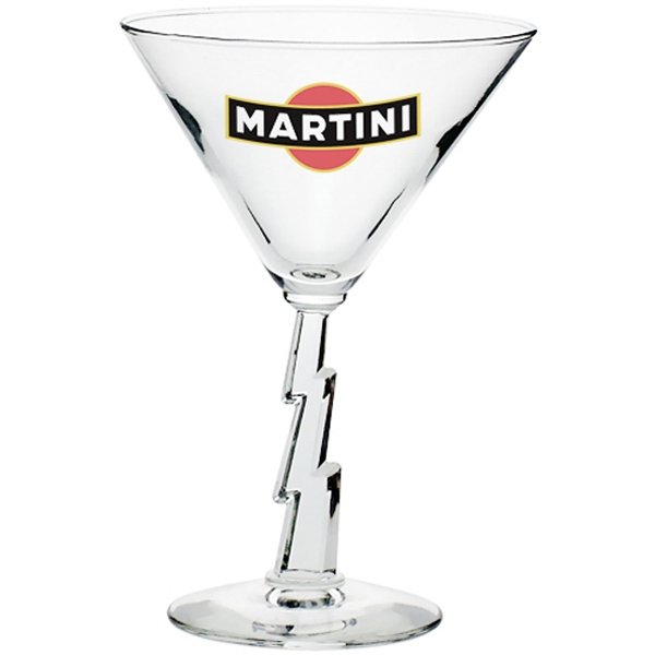 Clear Libbey 10 oz. lightning stem martini glass