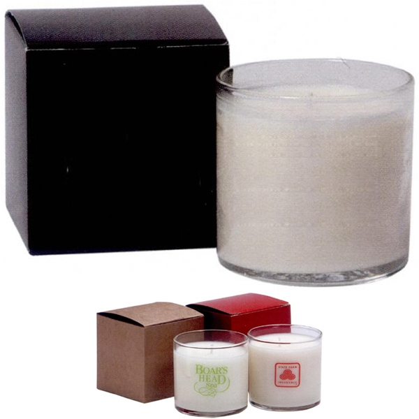 6 Oz. Soy Blend Votive Candle Comes In Clear Glass Holder Photo
