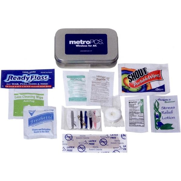 Urban - Kit For Urban Emergencies. Includes: Bandage, Floss, Sewing Kit, Mint & Other Items Photo