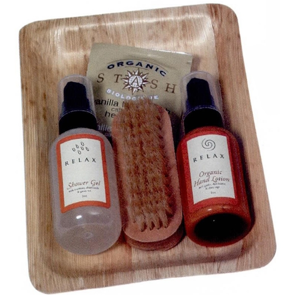 Bamboo Relaxation Bath Set Includes Lotion, Bath Gel, Nail Brush & Herbal Tea Photo