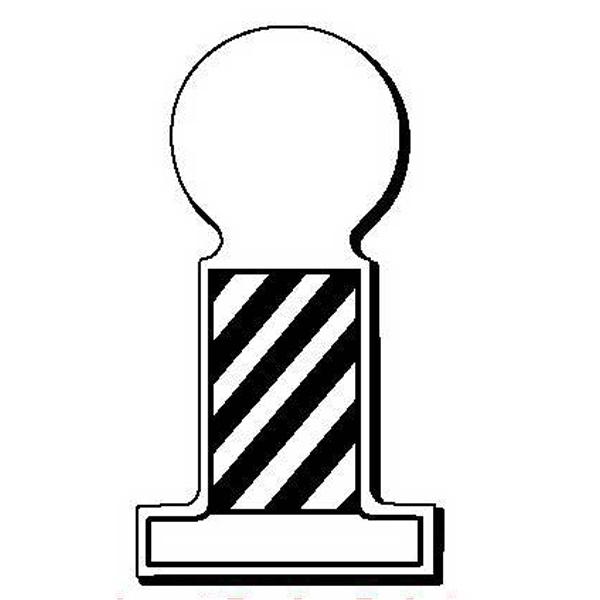 BarberPole Stock Shape Magnet