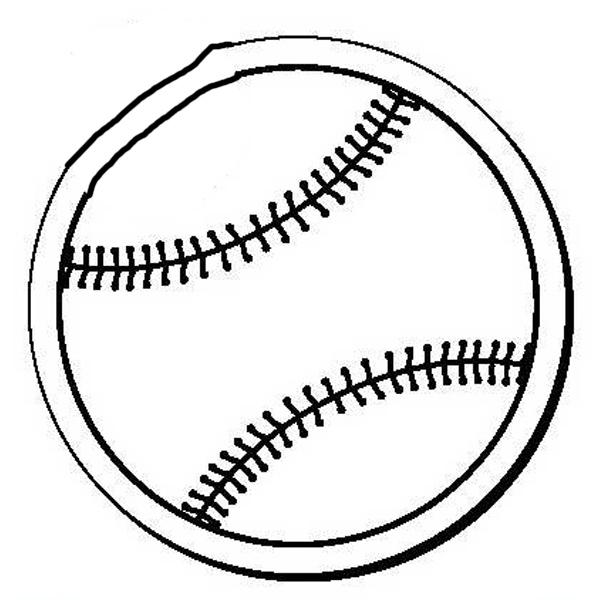 Baseball Stock Shape Magnet