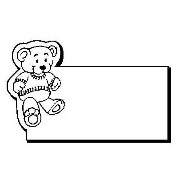 Bear with Rectangle Stock Shape Magnet