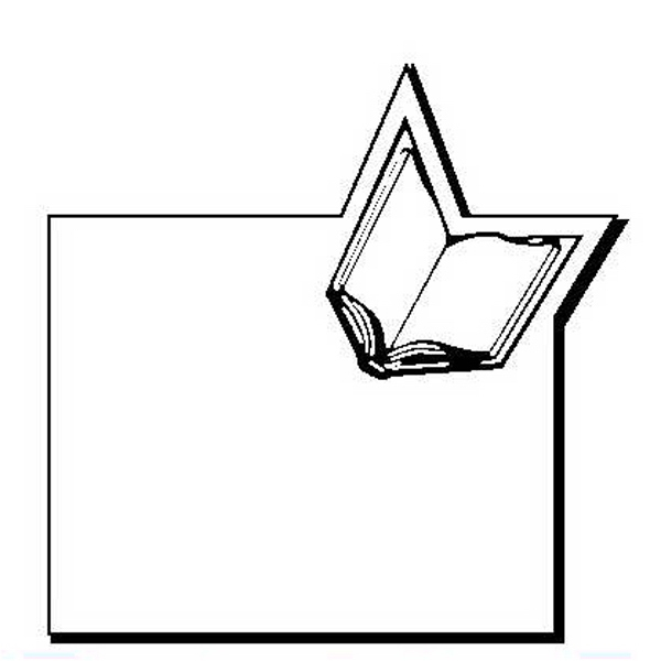 Book with Rectangle Stock Shape Magnet