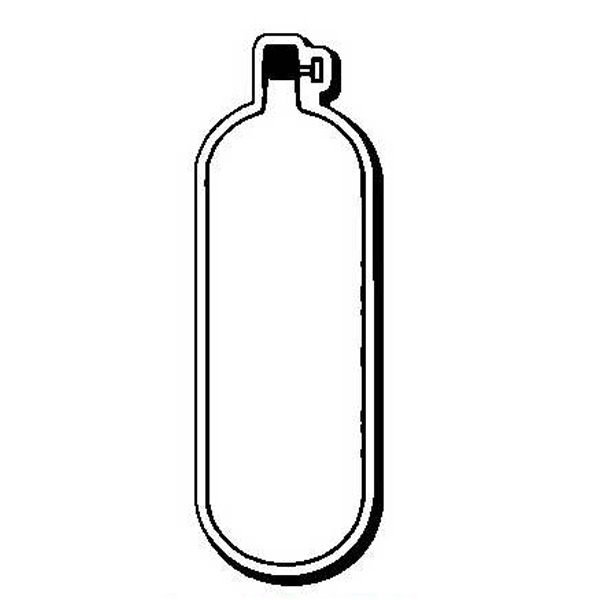 Oxygen Bottle Stock Shape Magnet