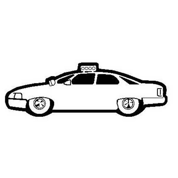 Police Car Stock Shape Magnet