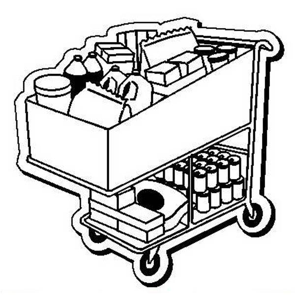 Shopping Cart Stock Shape Magnet