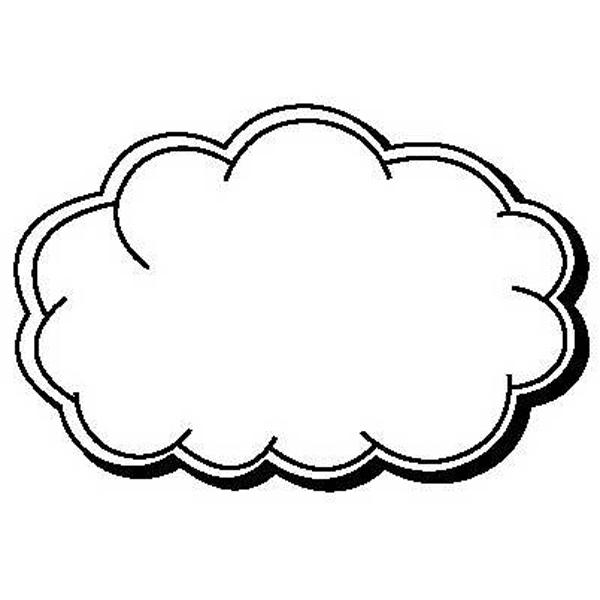 Cloud Stock Shape Magnet