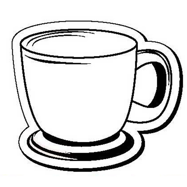 Coffee Cup Stock Shape Magnet