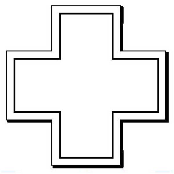 Cross Stock Shape Magnet