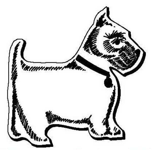 Dog Stock Shape Magnet