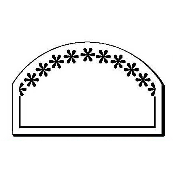 Flowers with Arch Stock Shape Magnet