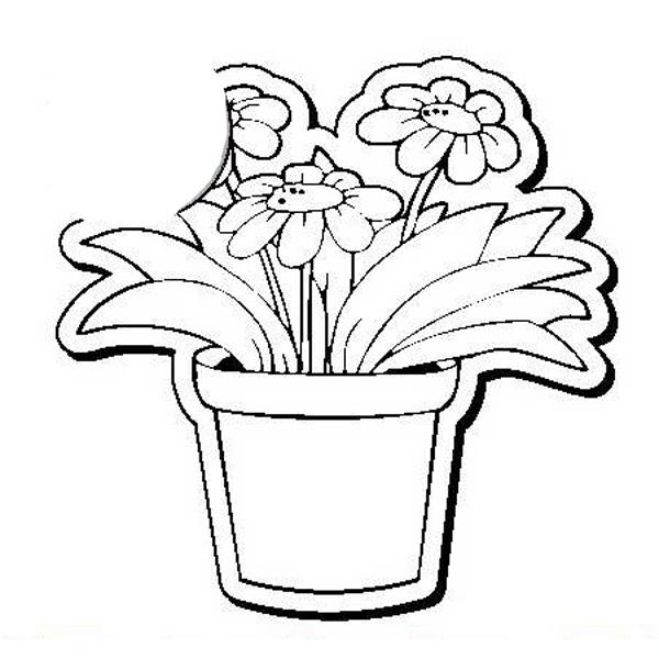 Flower Pot Stock Shape Magnet