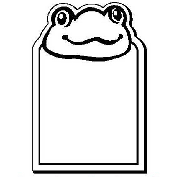 Frog with Rectangle Stock Shape Magnet