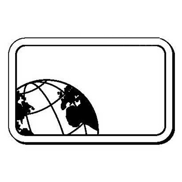 Rectangle with Globe Stock Shape Magnet
