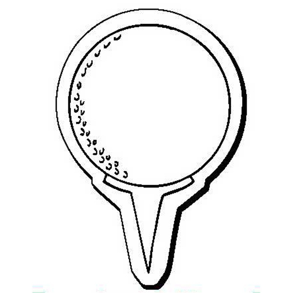 Golf Ball and Tee Stock Shape Magnet