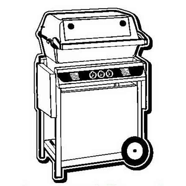Barbecue Grill Stock Shape Magnet