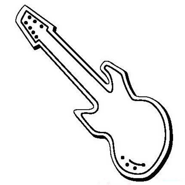 Guitar Stock Shape Magnet