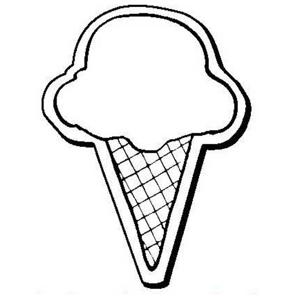 Ice Cream Cone Stock Shape Magnet