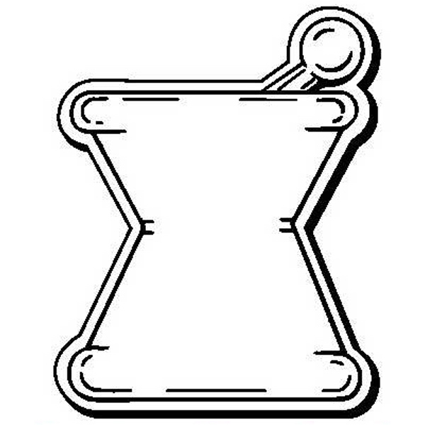 Mortar and Pestle Stock Shape Magnet
