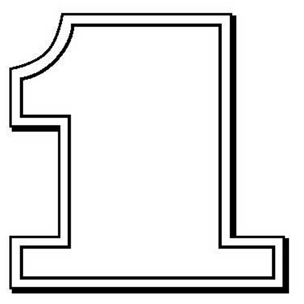 Number One Stock Shape Magnet