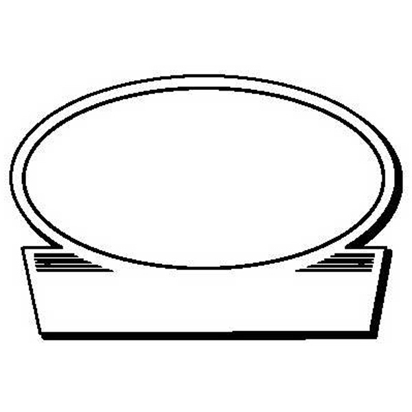Oval with Rectangle Stock Shape Magnet