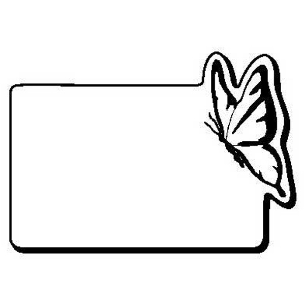 Rectangle with Butterfly Shape Magnet